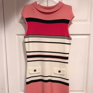Kay Unger New York cap sleeve knit dress L